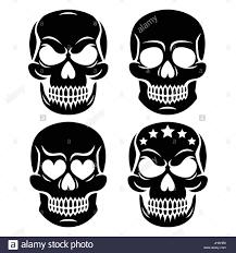 human skull design day of the dead stock vector