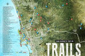 Map Of San Diego County by San Diego U0027s Top 50 Trails San Diego Magazine April 2015 San