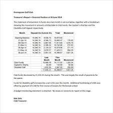 free annual report template non profit non profit treasurer report template template