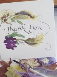 thank you card recyled pressed flower giclee print