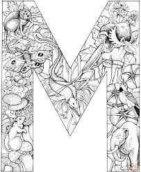 letter m colouring pages funycoloring