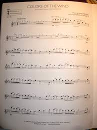 flute music colors of the wind pocahontas sheet music