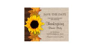 thanksgiving dinner invitation save the date postcard
