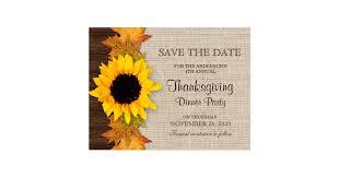 thanksgiving dinner invitation save the date postcard zazzle