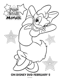 coloring pages of minnie mouse and daisy duck pop star minnie mouse printable coloring pages friends pop star