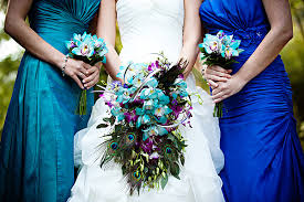 theme wedding bouquets peacock theme wedding magical peacock bridal bouquets