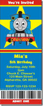 thomas the tank engine birthday party invitations archives