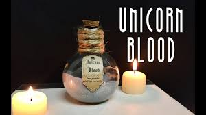 unicorn blood diy potion bottle halloween prop harry potter