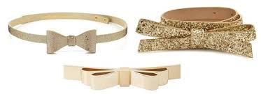 gold bow belt tuesday trend gold bows sparkles and shoes