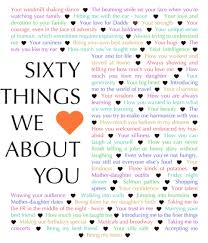 60 things for 60th birthday 60 things we about you birthdays gift and craft