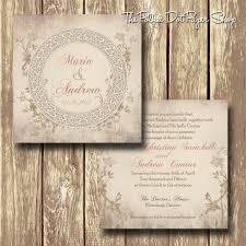 soft shabby chic romance printed invitation 0228 u2013 the polka dot