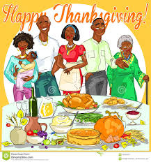 happy family celebrating thanksgiving day stock vector image