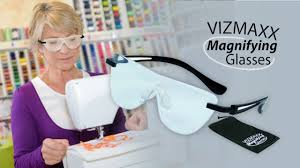 magnifying eyeglasses with light as seen on tv vizmaxx magnifying glass youtube
