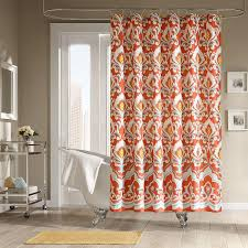 Yellow Damask Shower Curtain Sophisticated Fall Shower Curtains For Guest Bathrooms U2013 Rotator Rod