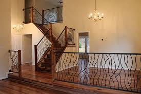 hand crafted bent iron art railing by cam harris art custommade com