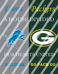 Detroit Lions Home Decor by Lions Packers House Divided Wall Decor Sign Instant Download