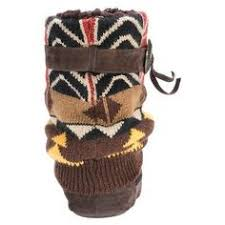 s knit boots size 12 s muk luks angie fair isle print slipper boots coral
