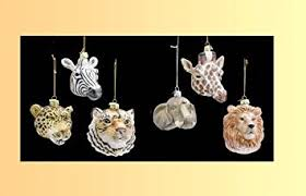 safari animal glass ornaments zebra