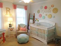interior nursery ideas with stripes fur rug white wooden baby