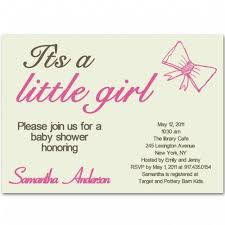 simple baby shower simple baby shower invitations bow ba girl shower invitations