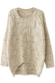 cable sweater favorite high low cable sweater oasap com