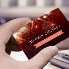 Business Card Fashion Designer Shiny Red Glitter Fashion Designer Business Card Templates