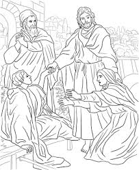 rich young ruler coloring page jesus raises widow u0027s son coloring page under construction vbs