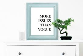 vogue print inspirational quote motivational poster wall art