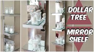 dollar tree mirror shelf d i y tutorial youtube diy home decor