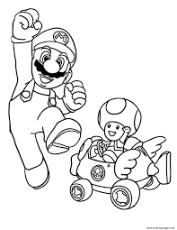 mushroom and mario bros s3679 coloring pages printable