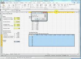 how to make a calculation table in excel how to make a two way two variable data table in excel youtube