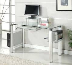 Metal And Glass Computer Desks Metal Glass Computer Desk Metal Computer Desk With Glass Top