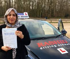 rasha passed her manual car driving test at slough dtc with rashid