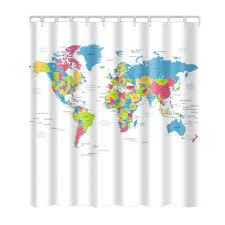 World Curtains World Map Curtains Promotion Shop For Promotional At
