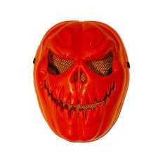 psycho pumpkin deluxe latex mask moving orange pumpkin mask mask