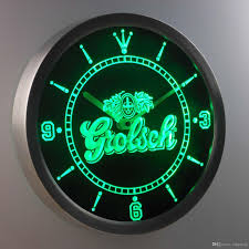 nc0002 grolsch luminova neon sign bar beer decor led wall clock