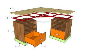 corner desk plans home design ideas