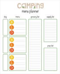 printable menu planning template 9 free word pdf documents