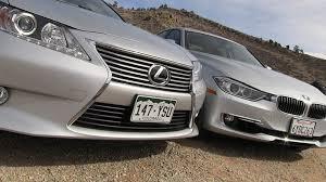 bmw es lexus es 350 vs bmw 335i 0 60 mph mashup drive review the fast