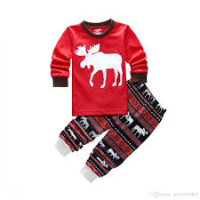 2017 autumn winter pjs boys reindeer animals