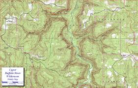 Map Buffalo Upper Buffalo River Wilderness Ozark Mountains Arkansas
