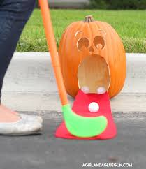 pumpkin golf for kids halloween activity youtube