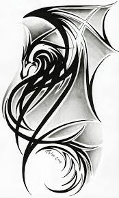 38 best drawings of tribal dragon arm tattoos images on pinterest