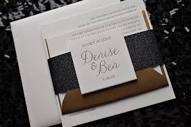 black and gold wedding invitations real wedding and benjamin black and gold wedding invitations