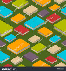 seamless pattern new 3d colorful books stock vector 578835889