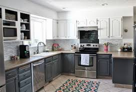 kitchen cabinets two tone kitchen cabinets ideas resurfacedestwo