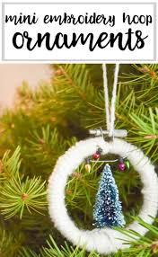 mini embroidery hoop ornaments