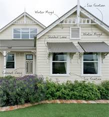 exterior handsome home exterior decoration with white cream