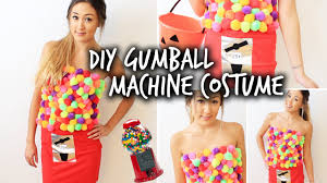 diy gumball machine halloween costume youtube
