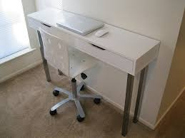 Narrow Desks For Small Spaces Narrow Desks For Small Spaces Desk With Shelves Modern